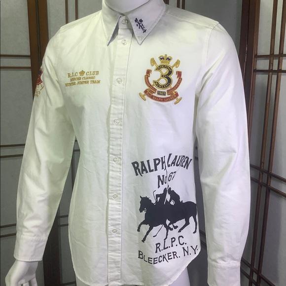 Ralph Lauren Boys Youth 14 Shirt Button Down White